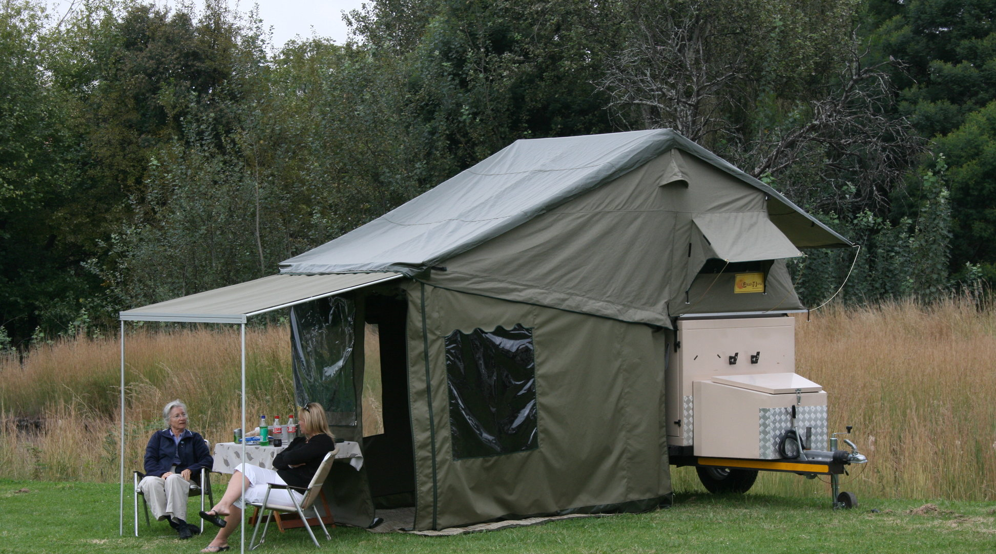 GLOBE DRIFTER TRAILER TENT WITH ADD-A-ROOM is a robust trailer tent constructed of 340gsm wax coated polycotton heavy duty ripstop fabric that is double ... & Eezi-Awn Globe Drifter - Eezi-Awn